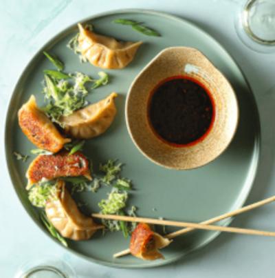 Honey Walnut Shrimp and Gyoza