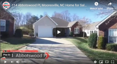 114 Abbotswood Pl, Mooresville, NC Home for Sale VLOG # 160