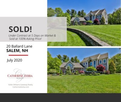 Sold in Salem, NH! 5 Days on Market, 100% of Asking Price!