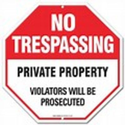No Peeking! Don't risk injury or arrest by entering a property without permission.