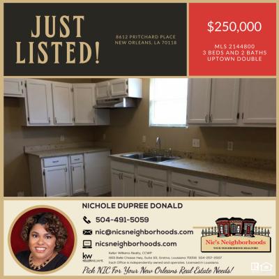 New Listing – 8612 Pritchard Place, New Orleans, LA 70118