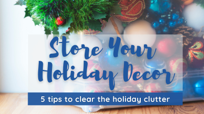 Store Your Holiday Decor