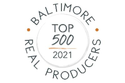 BALTIMORE TOP 500 REAL PRODUCERS 2021