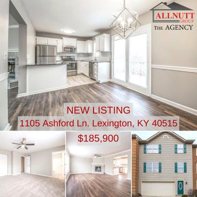 NEW LISTING 1105 Ashford Ln. Lexington, KY 40515 $185,900
