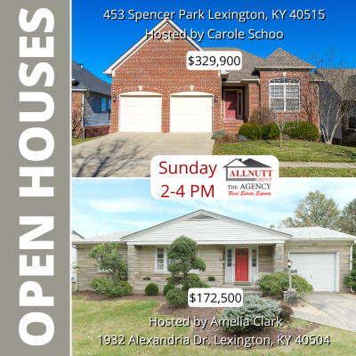 Open Houses this Weekend!!