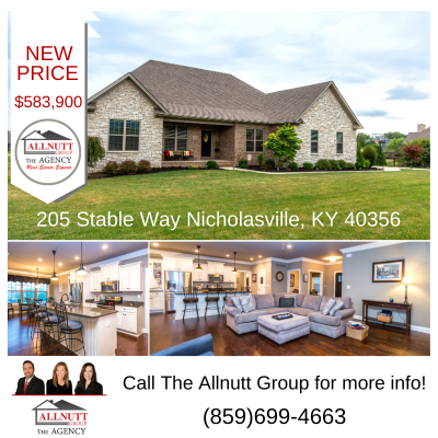 NEW PRICE – 205 Stable Way Nicholasville, KY 40356 – $583,900