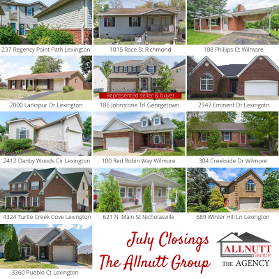 July Sales for The Allnutt Group