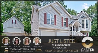 326 HORIZON DR. CANTON GA 30114 – Home for Sale