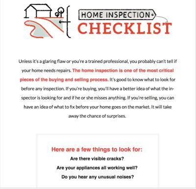 June 2018 – Home Inspection CHEAT SHEET!