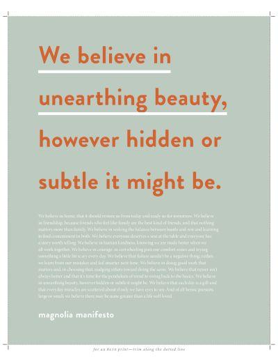 Magnolia Journal Reflection Exercise!