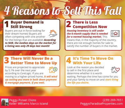 4 Reasons to sell this Fall.