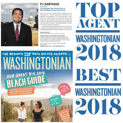 PJ Santiago selected as a Top Agent by Washingtonian Magazine
