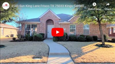 4143 Sun King Lane Frisco TX 75033 – Video Tour