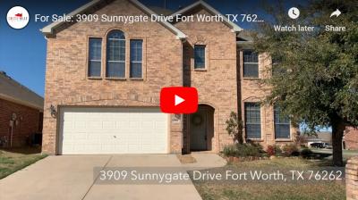 3909 Sunnygate Drive Fort Worth, TX 76262 Video Walkthrough