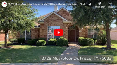 3728 Musketeer Drive Frisco TX 75033 Video Tour
