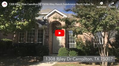 1308 Riley Drive Carrollton, TX 75007 Video Tour