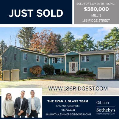 Just Sold! 186 Ridge St. Millis