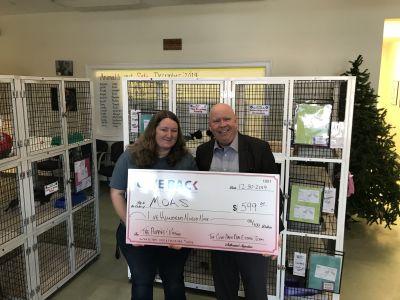 Jon Head made a GIVE BACK to MOAS – Madison Oglethorpe Animal Shelter
