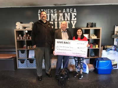 Jon Head and Levi Brooks make a GIVE BACK to Athens Area Humane Society