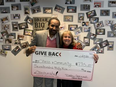 Debbie Grainger made a GIVE BACK to Chess & Community