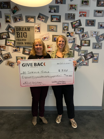 Debbie Grainger made a GIVE BACK to Strong Girls