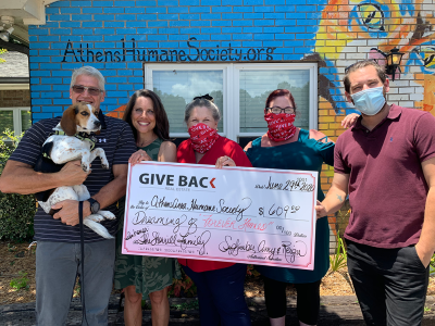 September Hoeler made a GIVE BACK to the Athens Area Humane Society