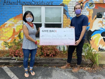 Cheri Cherry made a GIVE BACK to the Athens Area Humane Society