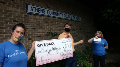 Georgui Kassaev GIVES BACK to the Athens Community Council on Aging (ACCA) Meals on Wheels Program