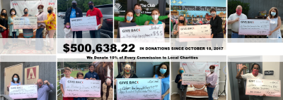 GIVE BACK Real Estate – Over $500,000 Donated