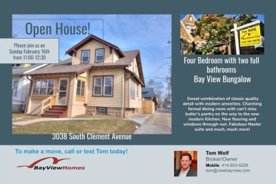Open House Sunday February 16th