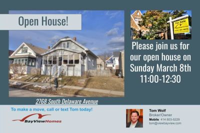 Open Houses Sunday March 8th