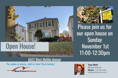 Open Houses Sunday November 1st