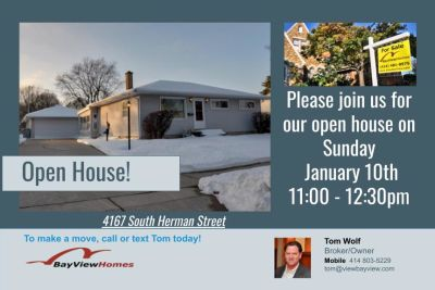 Open Houses Sunday January 10th