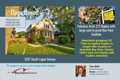 Open House Sunday July 17th