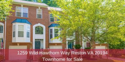 1259 Wild Hawthorn Way Reston VA 20194 | Townhome for Sale