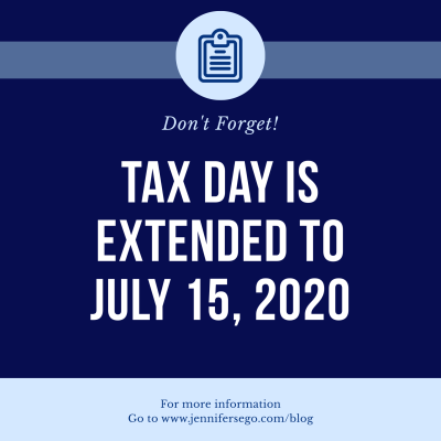 Tax Day EXTENDED