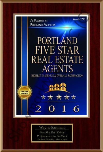 Wayne Sanman awarded Five Star Professional Award for 5th year in a row