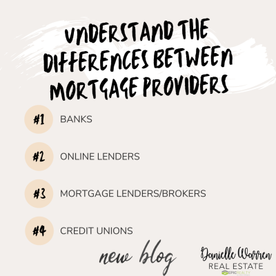 UNDERSTAND THE DIFFERENCES BETWEEN MORTGAGE PROVIDERS