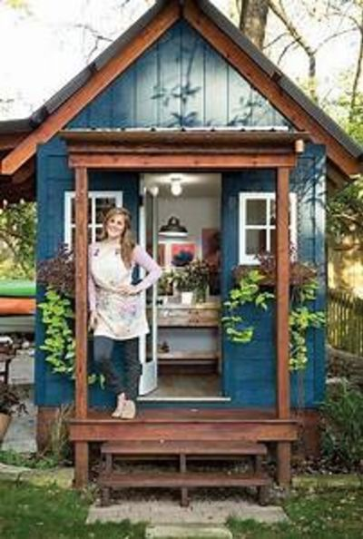 This Custom She Shed Is a Tiny Getaway Filled with Cozy Cottage Details