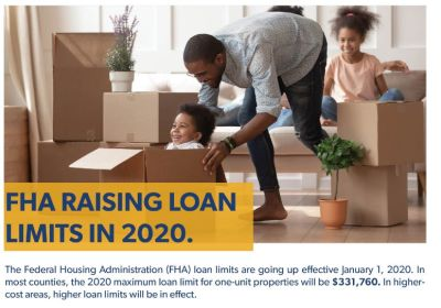 FHA Raising Loan Limits in 2020