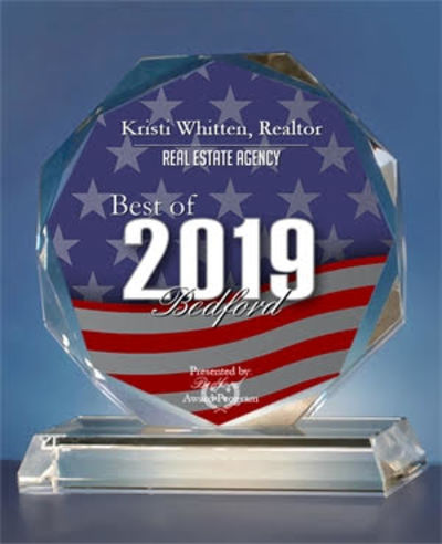 Kristi Whitten, Realtor Receives 2019 Best of Bedford Award