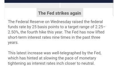 FED RAISES INTEREST RATES