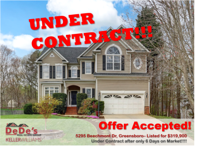 UNDER CONTRACT IN ONLY 6 DAYS!