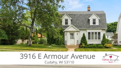 New Listing: 3916 E Armour Avenue   Cudahy WI 53110