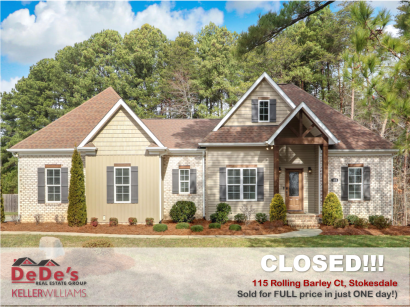 SOLD in Stokesdale NC