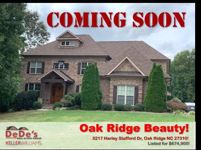 COMING SOON in Oak Ridge NC
