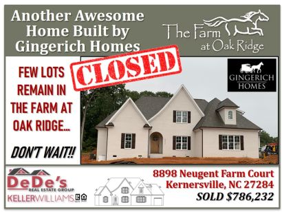 SOLD Another in The Farm at Oak Ridge!!