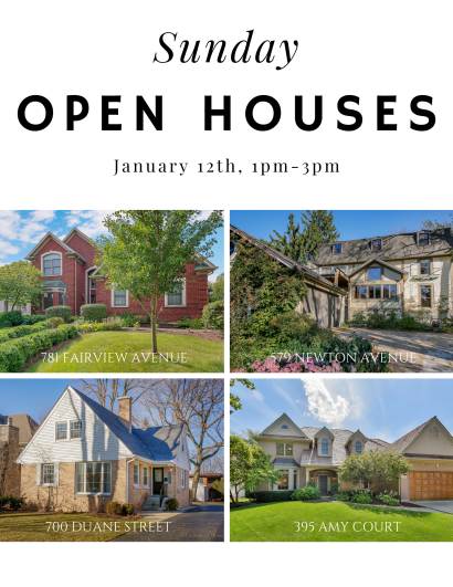 Sunday, 1/12, Open Houses!