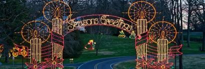 5 Great Places for Holiday Lights Viewing near Greensboro!