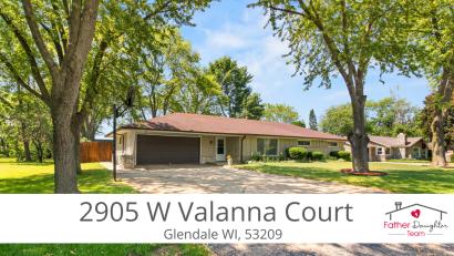 New Listing: 2905 W Valanna Court   Glendale, WI 53209